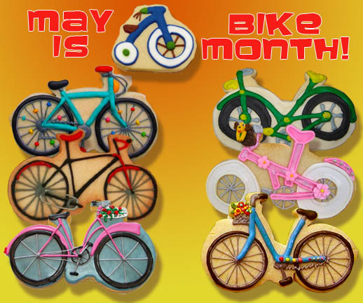 Bicycle Month Cookies