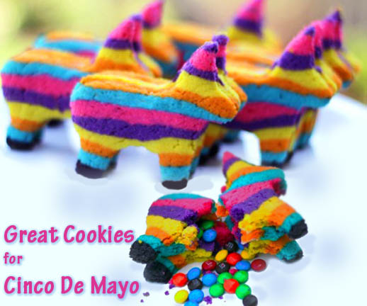 Pinata Cookies for Cinco de Mayo